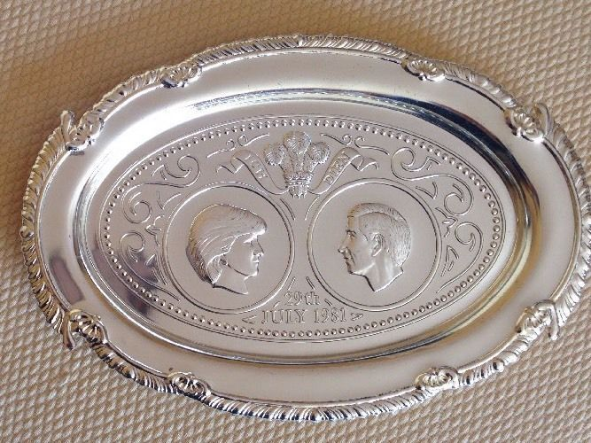 Details About Vintage Silver Plate Prince Charles And Lady