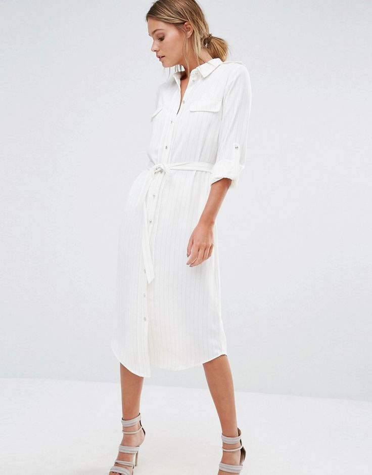 Image 1 ofOasis Pinstripe Shirt Dress