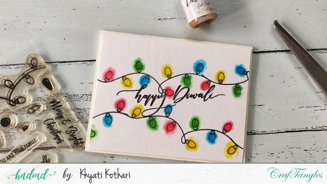 Diy Quick And Easy Cas Festive Cards With Video Tutorial Hndmd Blog Festive Cards Diwali Cards Cards