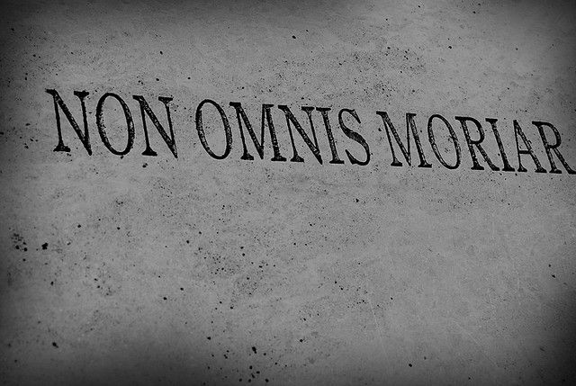 I have been saying I will get this tattooed for the last 5 years and within the last year after the heartbreak, the loss, the failures, the defeats,  I think it is by far past due to finally get this. I love the simplicity of it but the power this hold. Non omnis moriar....not all of me shall die in Latin.