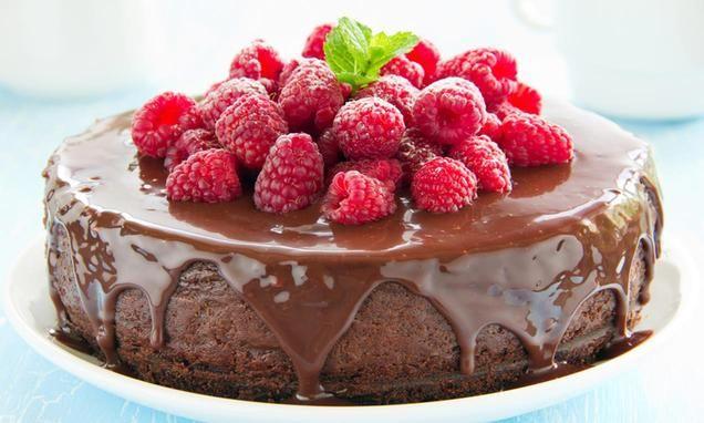 Chocolade Cheesecake  met frambozen                              -                                  Een echte verwennerij! Cheesecake met chocolade en frambozen.