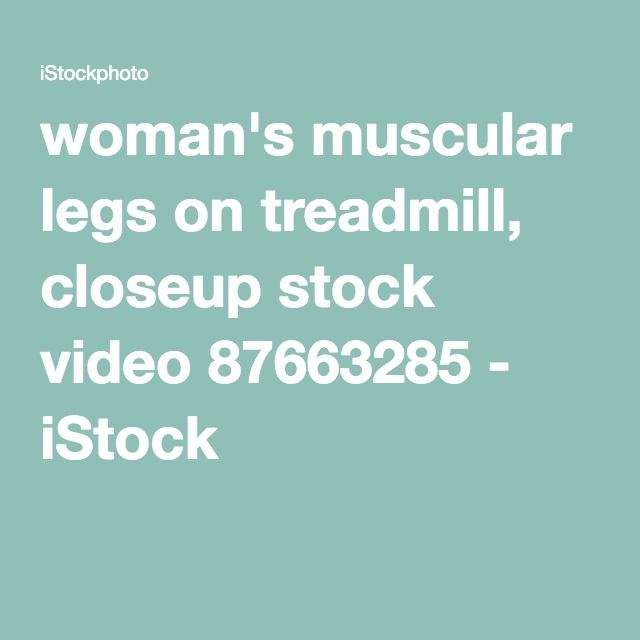 woman's muscular legs on treadmill, closeup stock video 87663285 - iStock
