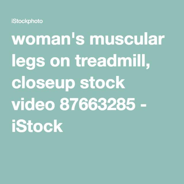 woman's muscular legs on treadmill, closeup stock video 87663285 - iStock