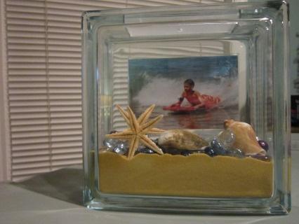 Glass Block Beach Frame
