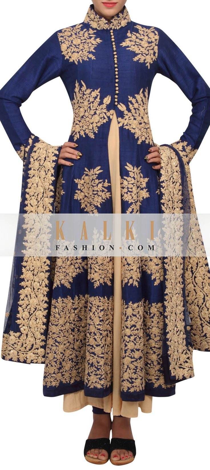Buy Online from the link below. We ship worldwide (Free Shipping over US$100) http://www.kalkifashion.com/twilight-blue-coloured-zari-embroidery-salwar-suit-with-dupatta-only-on-kalki.html