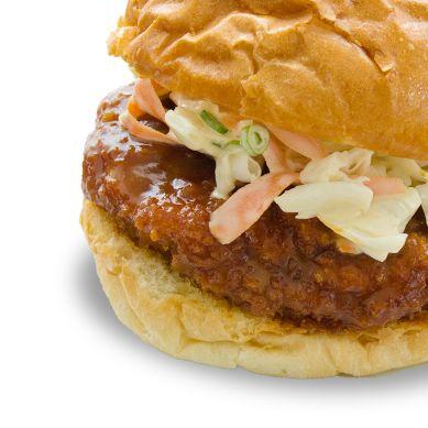 Miso Katsu Burger ~ Breaded Deep Fried Pork Cutlet w/Red Miso Sauce ...