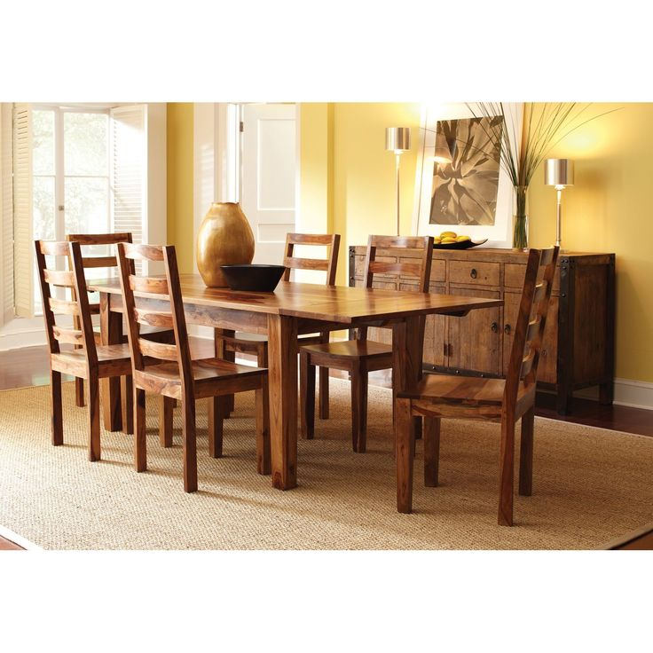 This Extendable Dining Table Boasts A Rich Water Based Finish That Allows  The Natural Swirls