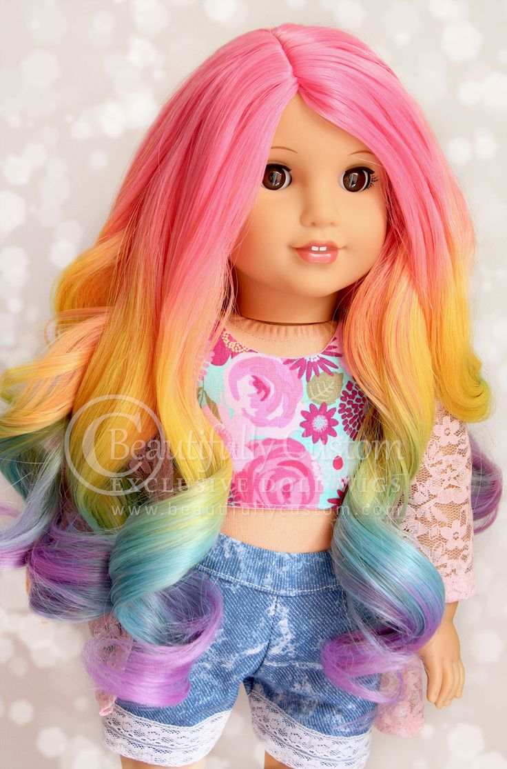 Deluxe Paradise Wig Rainbow Ombre Size 11 Custom