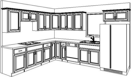Amazing ... Kitchen Cabinets Design Layout