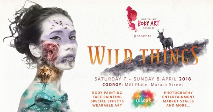 """AUSTRALIAN BODY ART FESTIVAL 2018 - www.balinesebeachhousenoosa.com -  This year's theme is """"Wild Things"""". Free entry and attracting  artists and spectators from throughout Australia and overseas it is all happening April 7-8 in the Noosa Hinterland town Cooroy.  This annual event has become part of the Noosa calendar in this rural community,  just a 20 minute drive from the coast. #insidersguidetonoosa"""