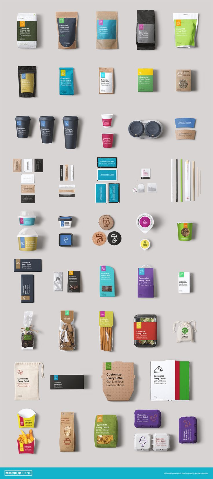 Coffee Branding & Packages Mock Up by Mockup Zone on Creative Market
