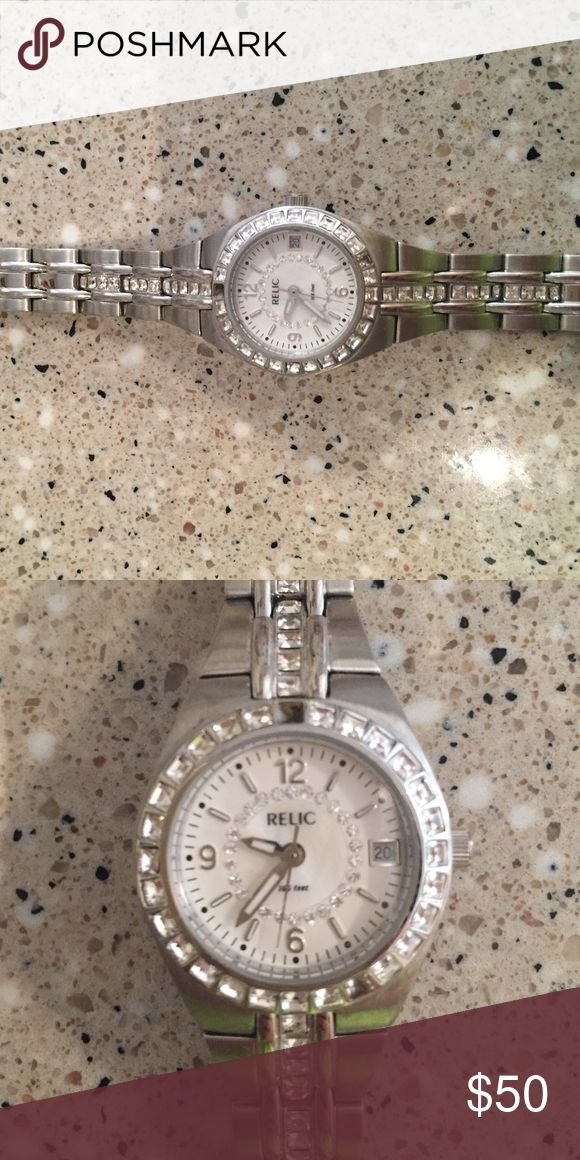 Women's Relic watch Silver women's watch with opal face Relic Other