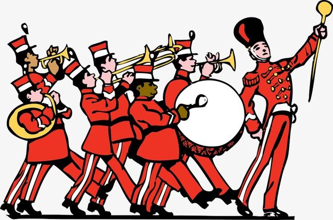 People And Military Band Instruments On People Clipart Military Clipart Band Clipart Png Transparent Clipart Image And Psd File For Free Download Marching Band Cartoon Pics Music Images