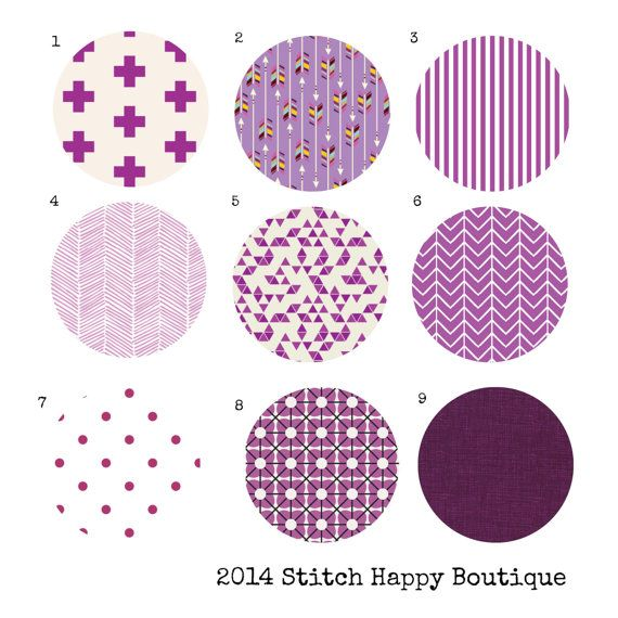Custom Color Choice Purple Orchid Plum by StitchHappyBoutique