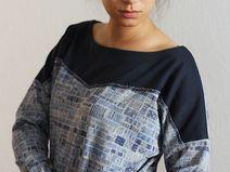 Sweatshirt Pulli Longsleeve CAMBRIDGE blau grau