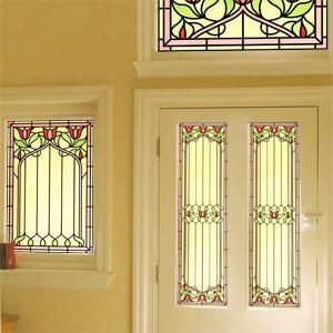 Victorian Stained Glass Stained Glass Film Purlfrost - The name for window film and wall coverings.