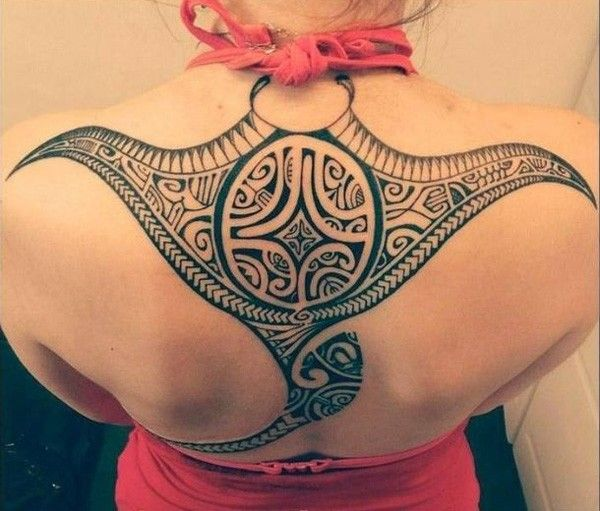 Manta Ray tattoo - Meet the Rays - Impressive Polynesian Tattoos | Art and Design