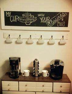Wall Mount Coffee Cup Mug Holder By Lumberandlittles