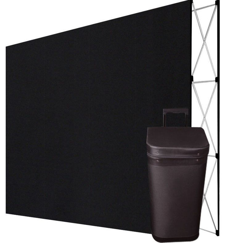 10' Pop Up Trade Show Display Booth Floor Backdrop+Case - STRAIGHT, BLACK