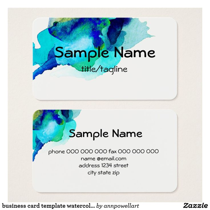 263 best business card templates artist designed images by ann business card template watercolor abstract art flashek Images