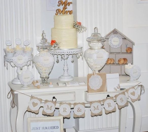 Vintage wedding lolly buffet styled by @tickledpinkcele