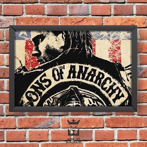"""170 curtidas, 7 comentários - Decoração - Arte ao Quadrado 🦁 (@arteaoquadrado.oficial) no Instagram: """"Sons of Anarchy! 💀🏍 . #arteaoquadrado #arte #decor #decoração #quadros #quadro #inspiração…"""""""