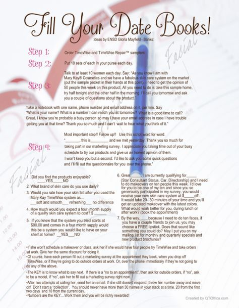 Fill your date book idea by Mary Kay ENSD Gloria Mayfield-Banks http://www.blog.qtoffice.com/fill-your-date-book-idea-by-mary-kay-ensd-gloria-mayfield-banks/