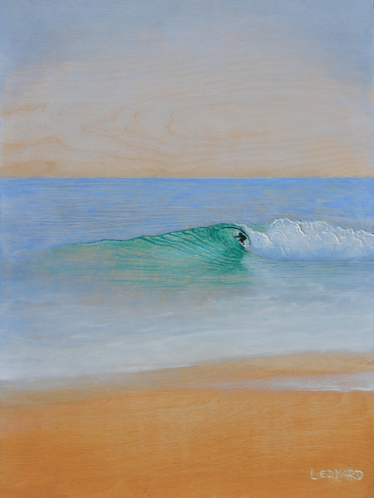 """""""Beach Break"""" (16 in. x 24 in.), Acrylic relief painting on wood.    wave paintings and surf art by Nathan Ledyard. http://facebook.com/nathanledyardart"""