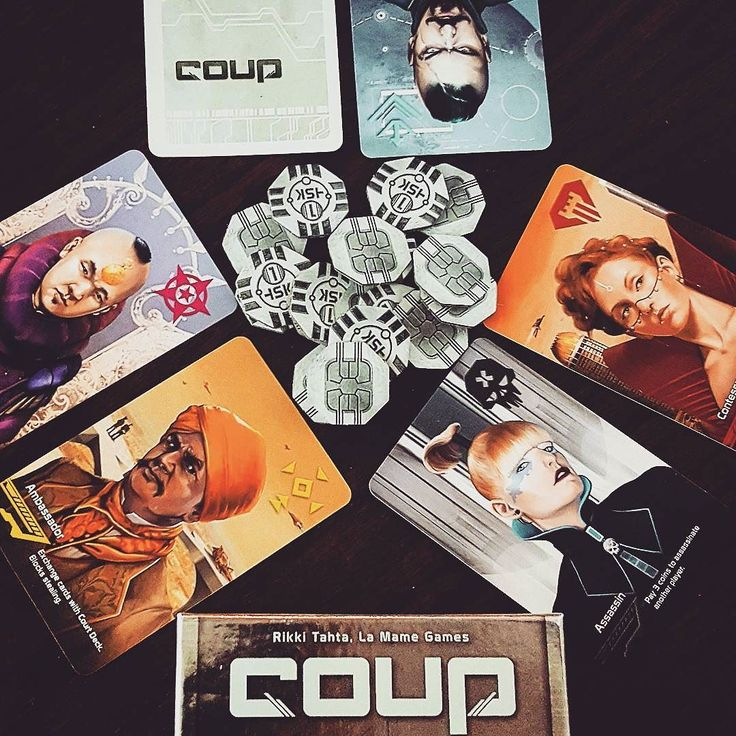 "#coup Played a 3 player game tonight! A social deduction game where you get two roles you can play as or bluff your way to victory! I love games like this but I'm so so so bad them. I always think that people can see through my lies so I pretty much give up right away. :c butttt sometimes you still gotta put up your ""dukes"" and get down to it... and give it your best shot! :) #badpuns #boardgames #bgg #boardgamegeek #tabletopgames #tabletop #cardgame #indieboardsandcards by becky_on_board"