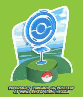 Ninjatoes' papercraft weblog: Papercraft Pokémon GO PokéStop