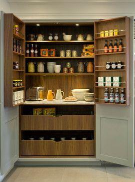 Roundhouse pantries & larders transitional-kitchen