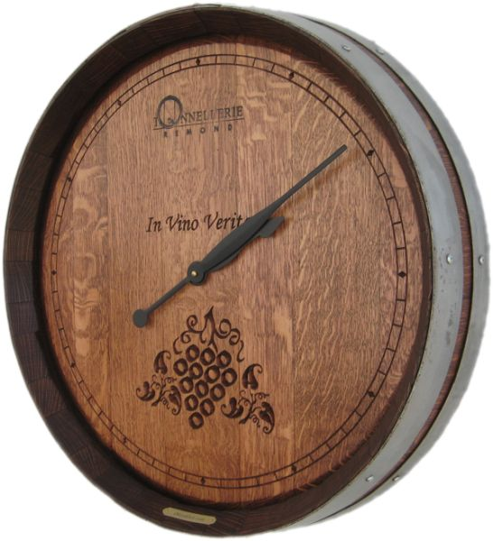 Simple Dail 2d Grapes Wine Clock Large Wall Clock Barrel