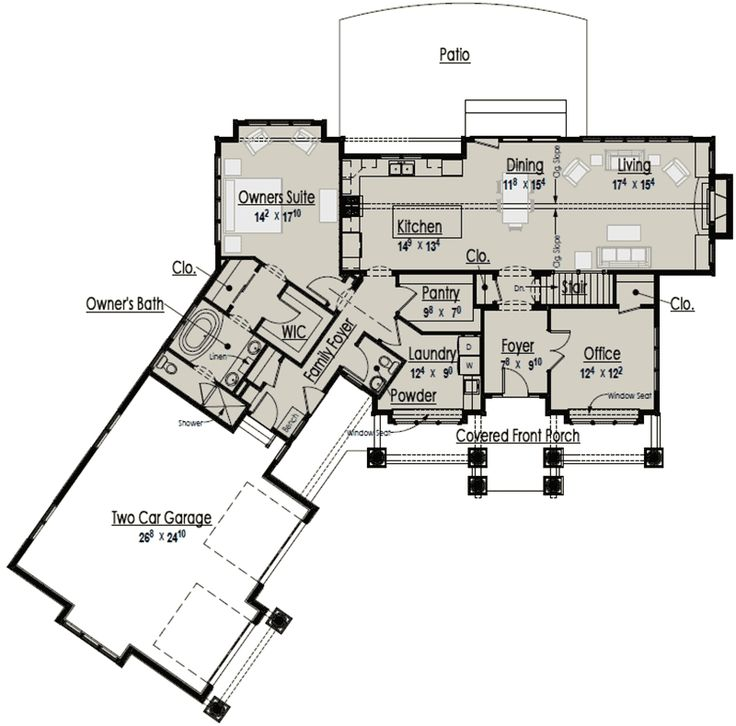 42 best house plans 1500 1800 sq ft images on pinterest for 1800 sq ft open floor plans