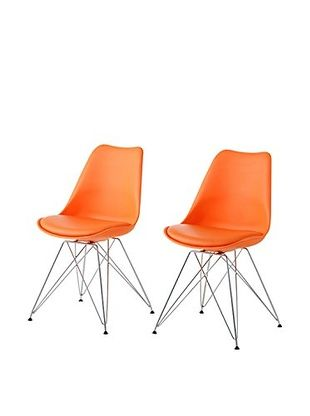 Set di Sedie Art. Kaos C1 Set 2 Dim. 48X55X85H - Metallo Arancione