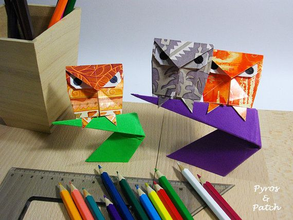 Small owl with support for decoration table paper di PyrosePatch