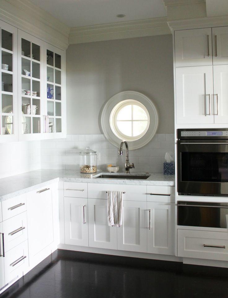Wide Shaker Cabinet And Long Rod Pulls Kitchens Luhhhv 39 Em In White Pinterest Shaker