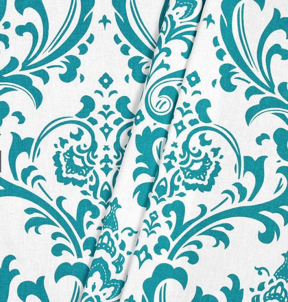 Turquoise Curtain Panels Aqua Teal Curtains by SewManyLinens