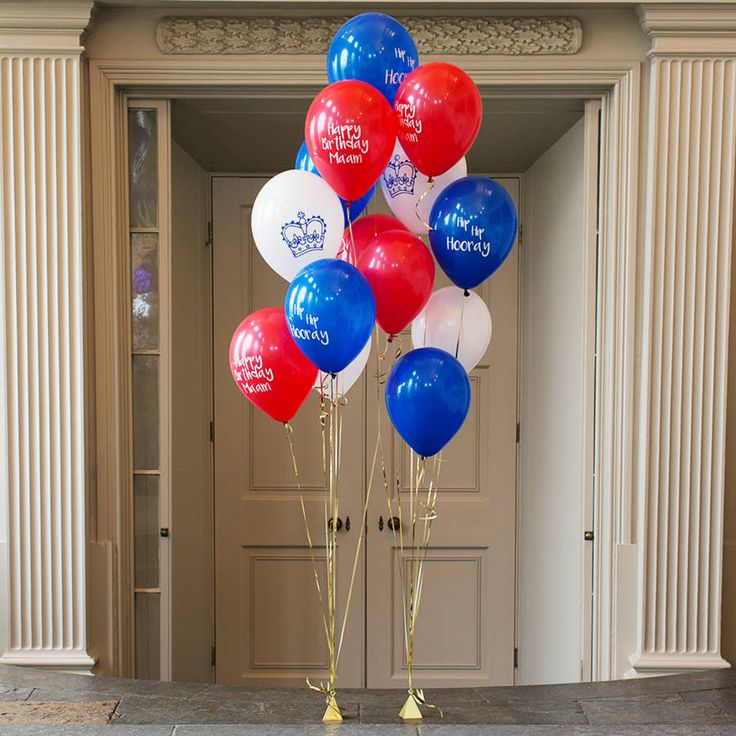 The Queen's Birthday Party Balloon Pack by Bubblegum Balloons