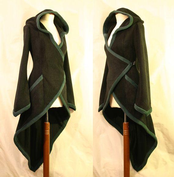 SALE 50 %: Black/Dark Green Wrap um Pixie von EuphoricGarments