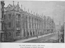 King Edwards School in Birmingham where Tolkien was a student
