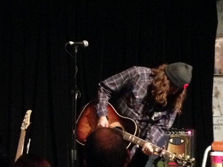 Tom Wilson, AKA Lee Harvey Osmond, starts off the evening at The Neat Cafe, November 8, 2014