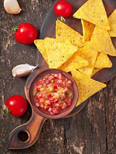 Sauce salsa pour nachos - Recette de cuisine Marmiton : une recette