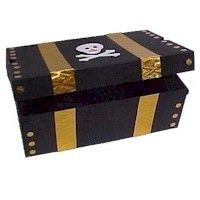 a shoe box turned into a pirate treasure chest! what an awesome idea!