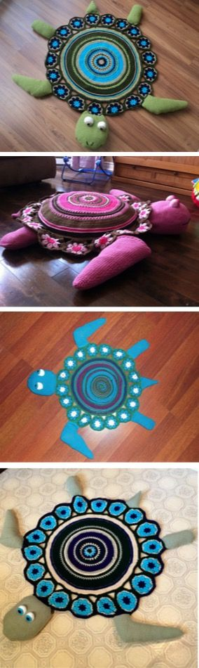 Crochet Turtle Rug Free Pattern | The WHOot