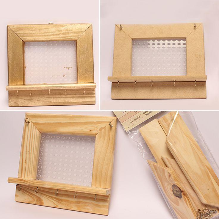 Si eliges un porta accesorios con detalles de madera, lo puedes colocar en algún espacio de tu casa y hará una excelente combinación. #HazloTuMismo #HazloTu #DIY #Orden #Accesorios #PortaAccesorios #JewelryOrganizer