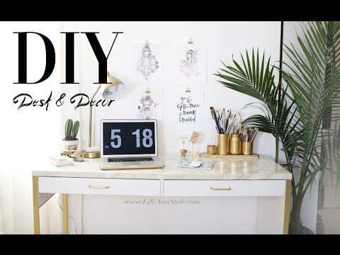 5 EASY DIY Desk Decor & Organization IKEA Hacks | ANNEORSHINE - YouTube