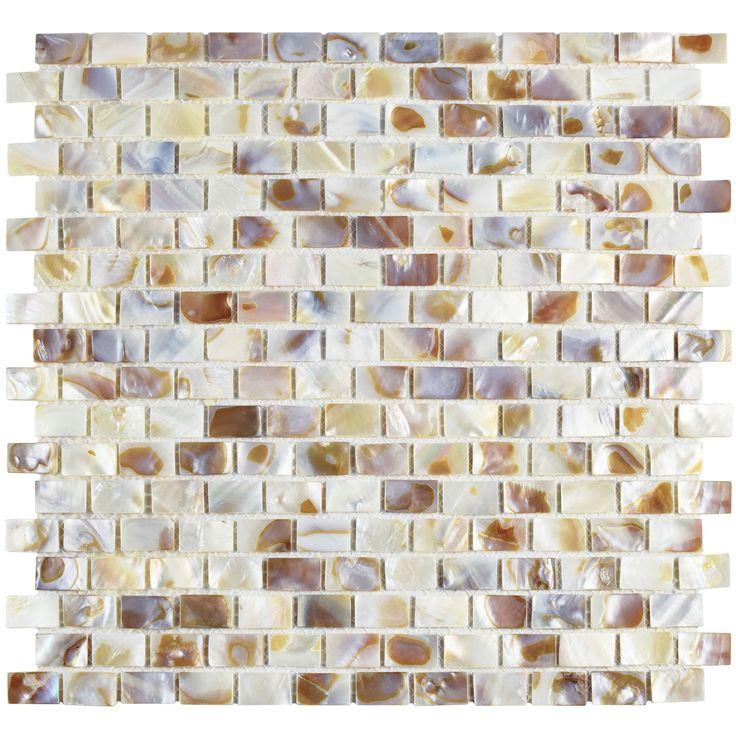 Shore Random Sized Seashell Pebble Tile in Natural