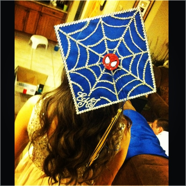 Graduation cap idea for spiderman lovers p