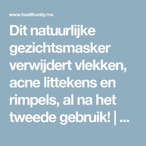 Dit natuurlijke gezichtsmasker verwijdert vlekken, acne littekens en rimpels, al na het tweede gebruik! | Health Unity