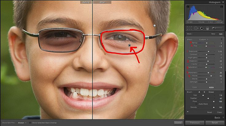 Removing Tint from Glasses in LR by Gwen Zaczepinski